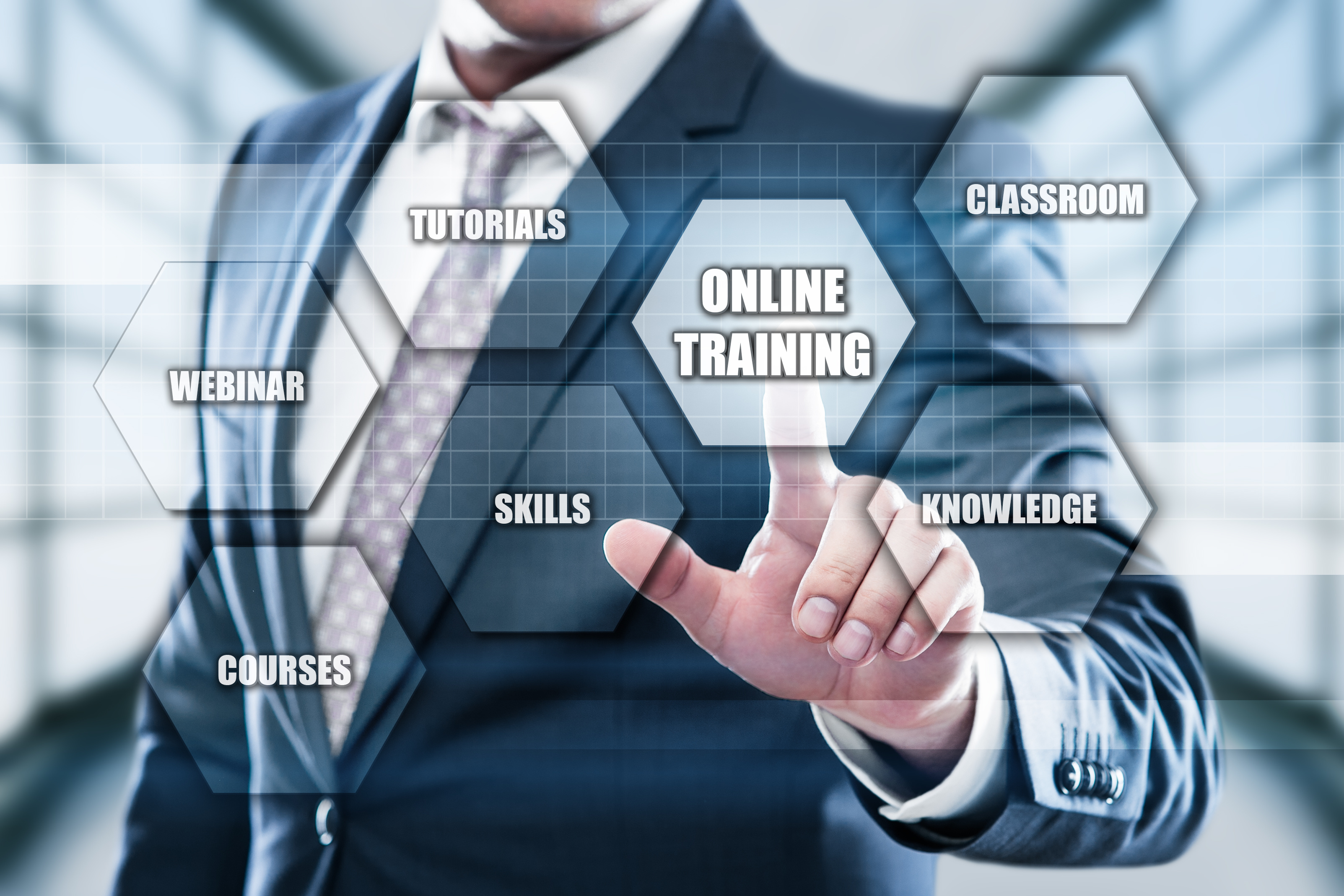 Online Training Webinar E-learning Skills Business Internet Technology Concept